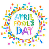 First April Fool Day Happy Holiday Greeting Card Stock Images