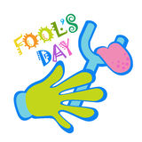 First April Fool Day Happy Holiday Greeting Card Royalty Free Stock Photo