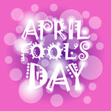 First April Fool Day Happy Holiday Greeting Card. Flat Vector Illustration Stock Photos