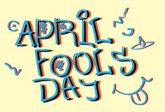 First April Fool Day Happy Holiday Greeting Card. Flat Vector Illustration Stock Image