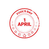 First April Fool Day Happy Holiday Greeting Card Stamp Royalty Free Stock Image