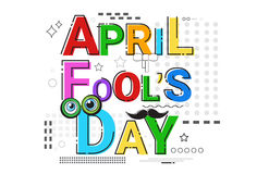 First April Fool Day Happy Holiday Greeting Card. Vector Illustration Royalty Free Stock Photography