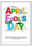 First April Fool Day Happy Holiday Greeting Card. Vector Illustration Royalty Free Stock Photos