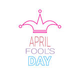 First April Fool Day Happy Holiday Greeting Card. Vector Illustration Stock Photography