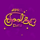 First April Fool Day joke Greeting Card. Vector lettering design. Perfect for greeting card, banner or advertisement. 1st of April vector illustration