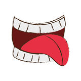 First april fools mouth tongue image. Illustration eps 10 Royalty Free Stock Photography