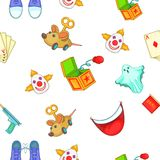 First of april pattern, cartoon style Royalty Free Stock Photography