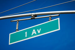 First Avenue road sign Royalty Free Stock Image