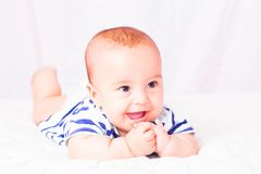 First baby teeth royalty free stock photo