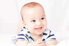 First baby teeth stock photography