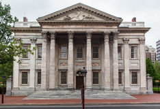 First Bank of the United States. The facade of the First Bank of the United States with its corinthian columns, Philadelphia, Pennsylvania, United States Stock Photography