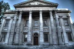 First Bank of the United States in Philadelphia. First Bank of the United States entrance in Philadelphia. April 21, 2016 stock image