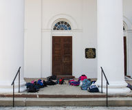 First Baptist Church with Bags Royalty Free Stock Photo