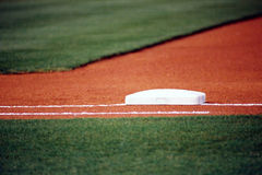 First Base. A photo of first base Royalty Free Stock Photography