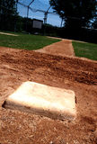 First base on baseball field royalty free stock photos
