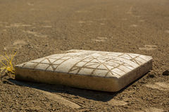 First Base. Covered with Dirt Stock Photography
