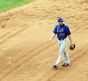First Base Daniel Murphy of NY Mets Royalty Free Stock Images