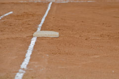 First base foul line Stock Photos