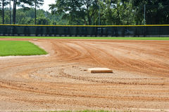 First Base on Fresh Field royalty free stock images