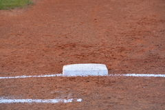 First base line Royalty Free Stock Photography