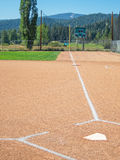First base line, from home plate Royalty Free Stock Images
