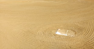 First Base Positioned in the Infield of a Baseball Diamond Royalty Free Stock Images