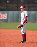 First baseman Jayce Boyd waits for the pitch Royalty Free Stock Photography
