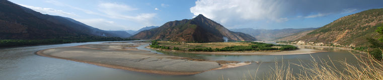 The First Bay of the Yangtze River Royalty Free Stock Photo