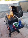 First BBQ of the summer. Bbq time in vegas royalty free stock image