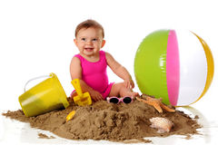First Beach Play Stock Photography