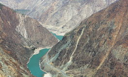 The First Bend of the Yangtze River. In Shangri-la Stock Images