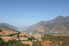The first bend of the Yangtze River royalty free stock photography