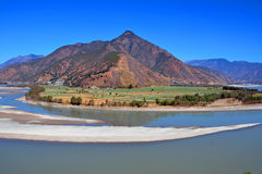 First Bend of the Yangtze River. In Yunnan Province,China Royalty Free Stock Images
