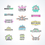 First big set music equalizer emblem vector Royalty Free Stock Photo