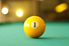 First billiard ball Stock Photography