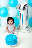First birthday cake smashing Stock Photos