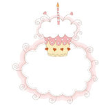 First birthday card Royalty Free Stock Photography