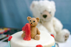 First Birthday Decoration On The Cake Royalty Free Stock Image