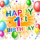 First Birthday Indicates 1St Celebrate And Happiness Royalty Free Stock Images