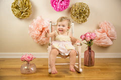 Free First Birthday Photoshoot Stock Image - 61716621