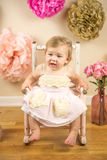 First Birthday Photoshoot Royalty Free Stock Images