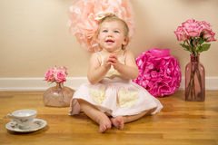 First Birthday Photoshoot Stock Images
