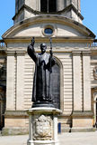 First Bishop of Birmingham statue and Cathedral. Stock Image