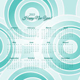 First blue. 2015 new year European calendar over seamless pattern. vector daily organizer template royalty free illustration