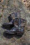 First boots. A child,s first pair of cowboy boots royalty free stock photography