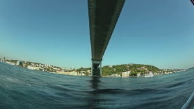 First Bosphorus bridge fisheye shot stock video footage