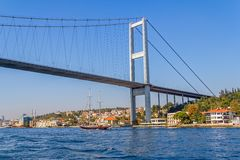 First Bosphorus bridge Royalty Free Stock Photo