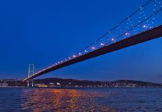 First Bosporus Bridge connecting Europe and Asia, Outdoor Istanb. Ul city. Turkey landmark Stock Photography