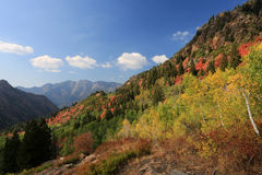 First breath of Autumn in the mountains Royalty Free Stock Photo