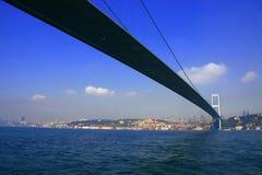 The first bridge of Bosporus in Istanbul Royalty Free Stock Image